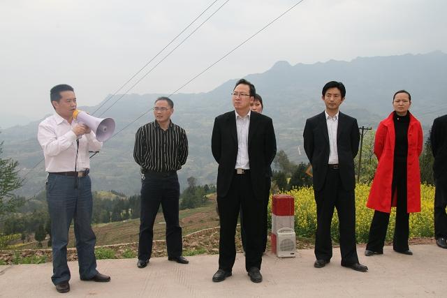 在宣汉县华景镇参观学习