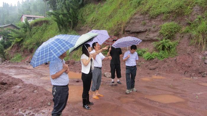 青龙乡实地亲临小学指挥防洪自杀工作-四川省花园干部抢险图片